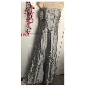 Ana Elyse size 10 silver strapless evening dress